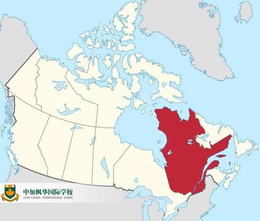 加拿大魁北克省地图